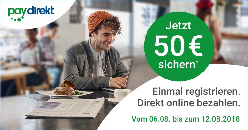 [NBB] Bestellung mit paydirekt qualifiziert für einen weiteren 50 € Gutschein (MBW 250 €)