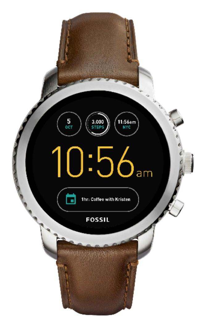Fossil Herren Smartwatch Q Explorist - 3. Generation - Leder - Dunkelbraun / oder in silber mit Edelstahl-Armband für 143,99€ statt 209,00€