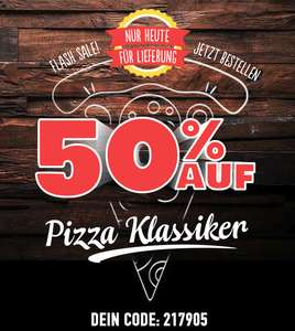 [Dominos] 50% auf alle Pizza-Klassiker
