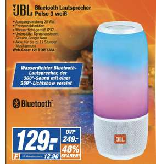 Sammeldeal  [Expert] z.B. JBL PULSE 3 weiß für 129€