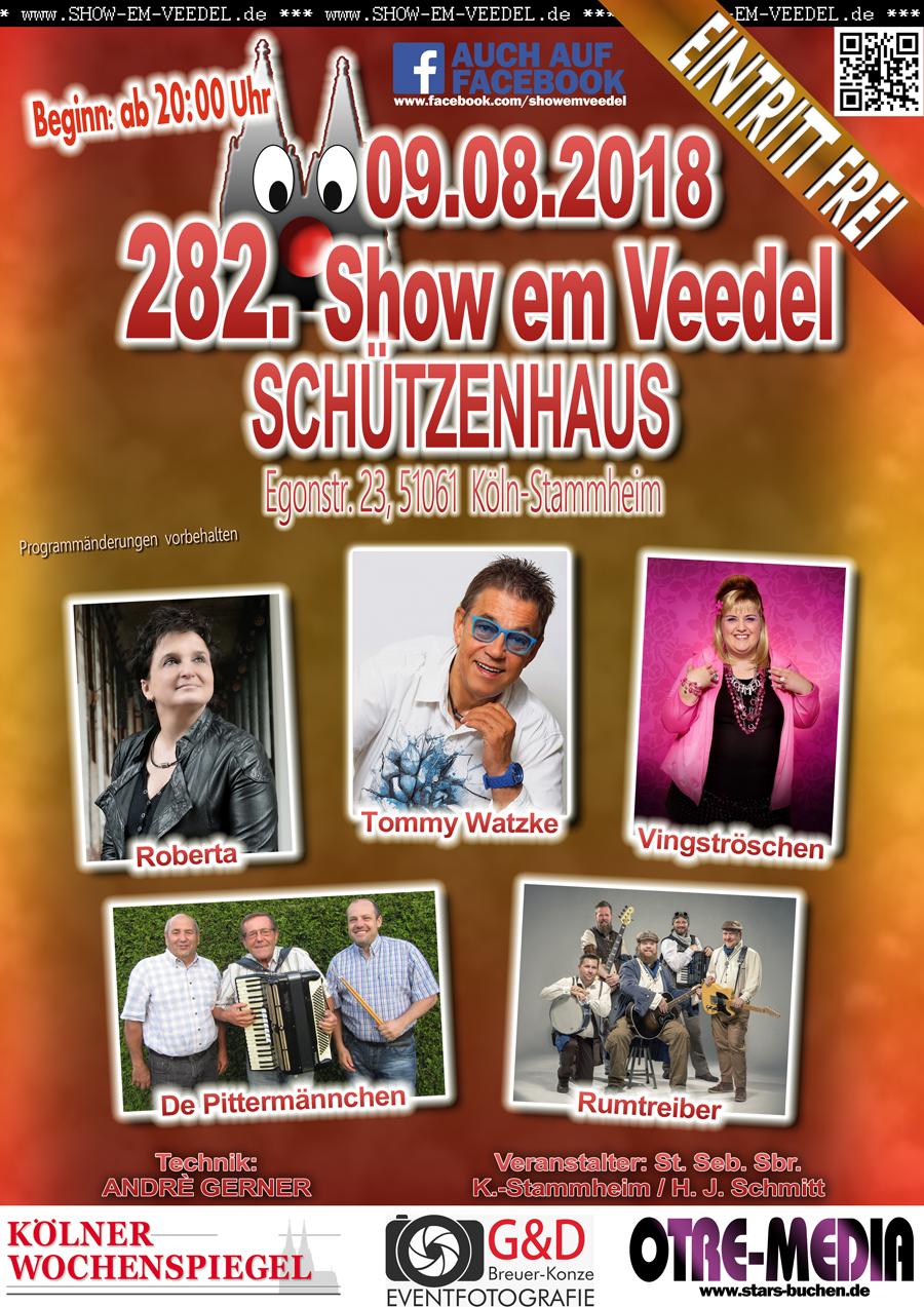 Köln - 282. Show em Veedel - 09.08.2018 - 20 Uhr - Eintritt frei