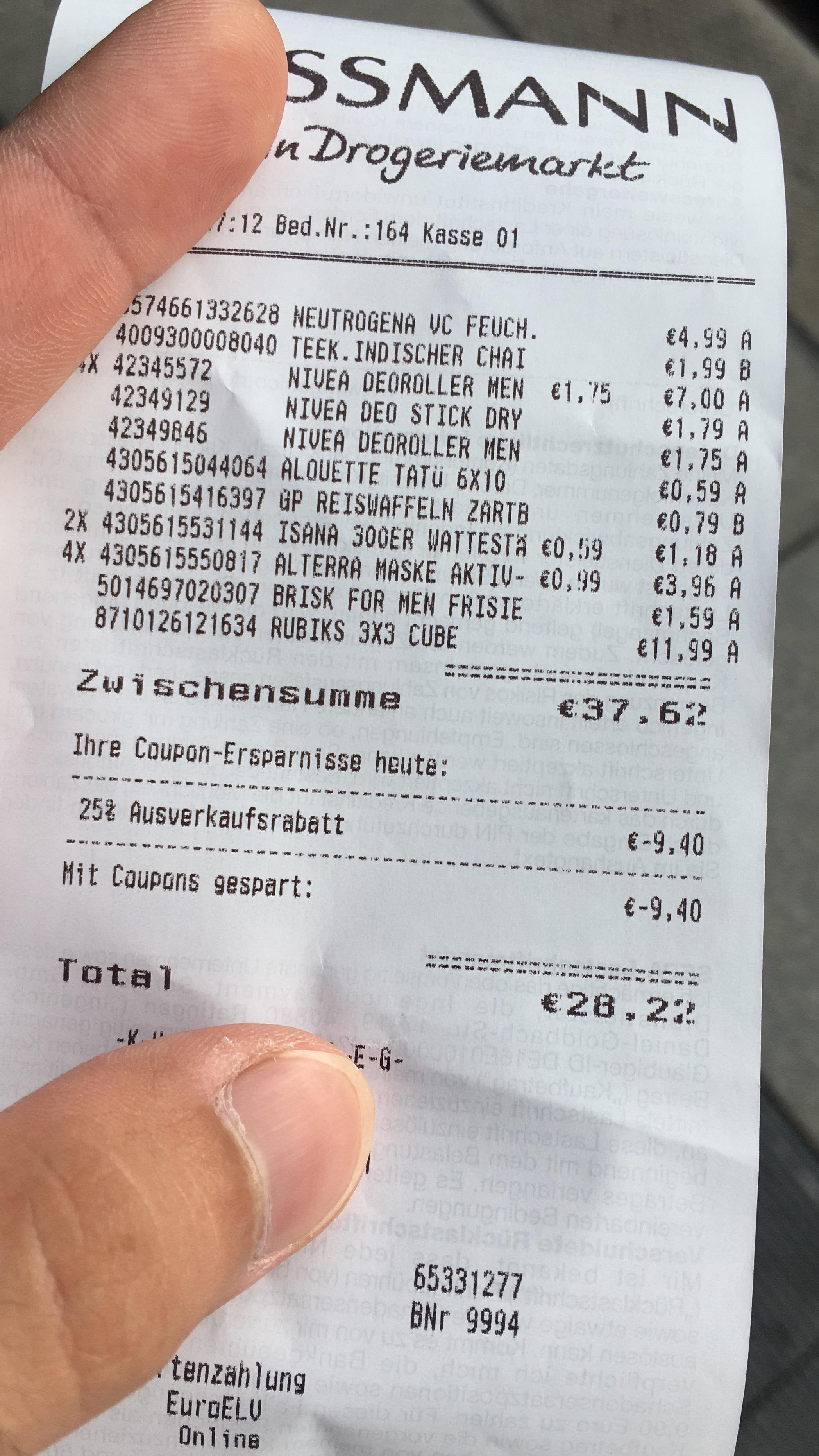 (Lokal) Rossmann Mainz HBF AUSVERKAUF