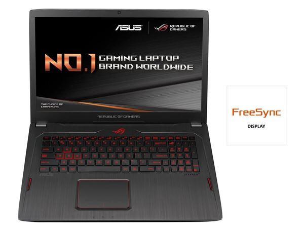 "ASUS GL702ZC-GC179T AMD R7-1700 RX580 4GB 16GB RAM 43.9 cm (17.3"") Notebook (schwarz)"