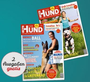 """2 Ausgaben """"Der Hund"""" Zeitschrift gratis - Kündigung notwendig"""
