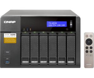 6-Bay NAS QNAP TS-653A-4G (Intel Celeron N3150, 4GB RAM, 4x Gigabit-LAN, 2x HDMI, 4x USB 3.0, 2x 6.3mm-Mikrofonanschluss, Klinkenausgang, Linux)