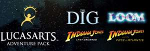 LucasArts Adventure Pack (Indiana Jones: Fate of Atlantis + Last Crusade + Loom + The Dig) für 2,26€ [Steam]