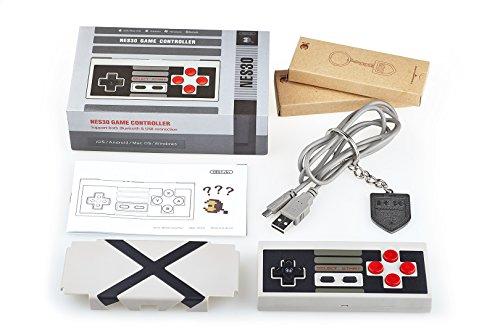 8bitdo NES30 Klassischer Controller für Nintendo NES, Kabellos, mit Bluetooth, Kompatibel mit Android, PC, Mac, OS, DVD