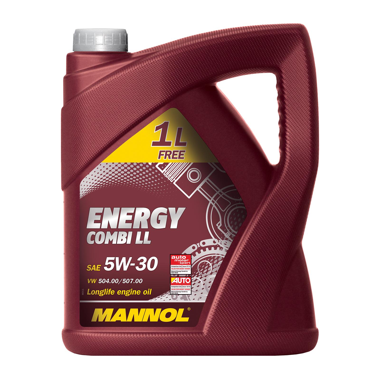 2x 5 Liter MANNOL Combi LL Motoröl 5W-30 (u.a. VW 504.00/507.00)
