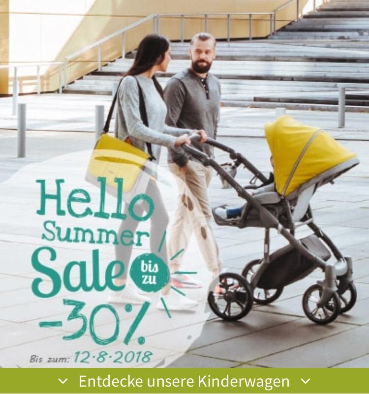 Bis zu 30% bei My Junior - Kombi Kinderwagen (mit gratis Sonnenschirm und Getränkehalter) & Zubehör z.B. Wickelrucksack, Fußsack