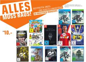 [Regional Saturn Hamm] The Elder Scrolls V: Skyrim (Switch),FIFA18 (Switch),Schlag den Star,(Switch),Monster Hunter: World (PS4),Shadow of the Colossus (PS4), Gran Turismo: Sport..Alles für je 10,-€