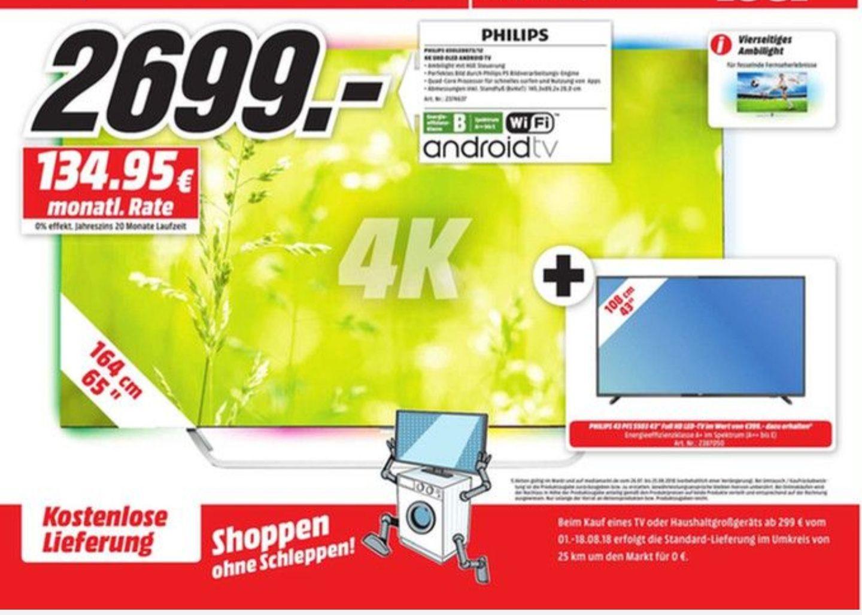 [ Lokal Media Markt Bonn und Bornheim] Philips 65Oled873 4K Oled TV