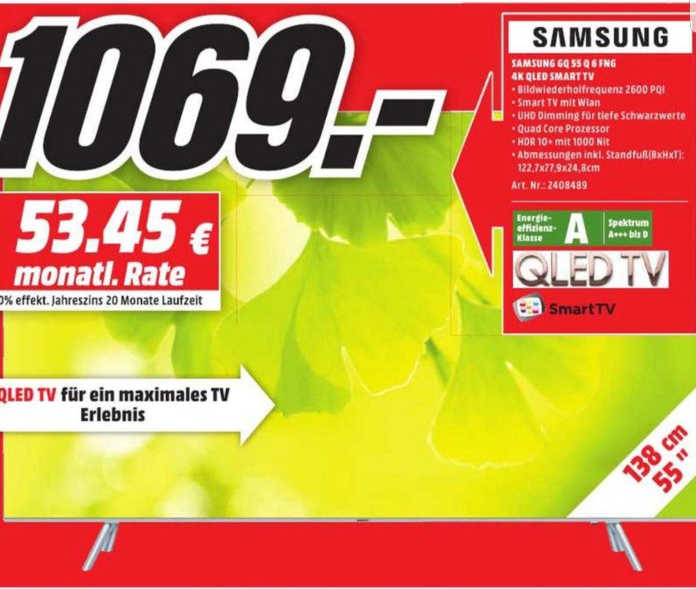 [Lokal Media Markt Bonn und Bornheim] Samsung GQ - Q6FN QLED Smart TV