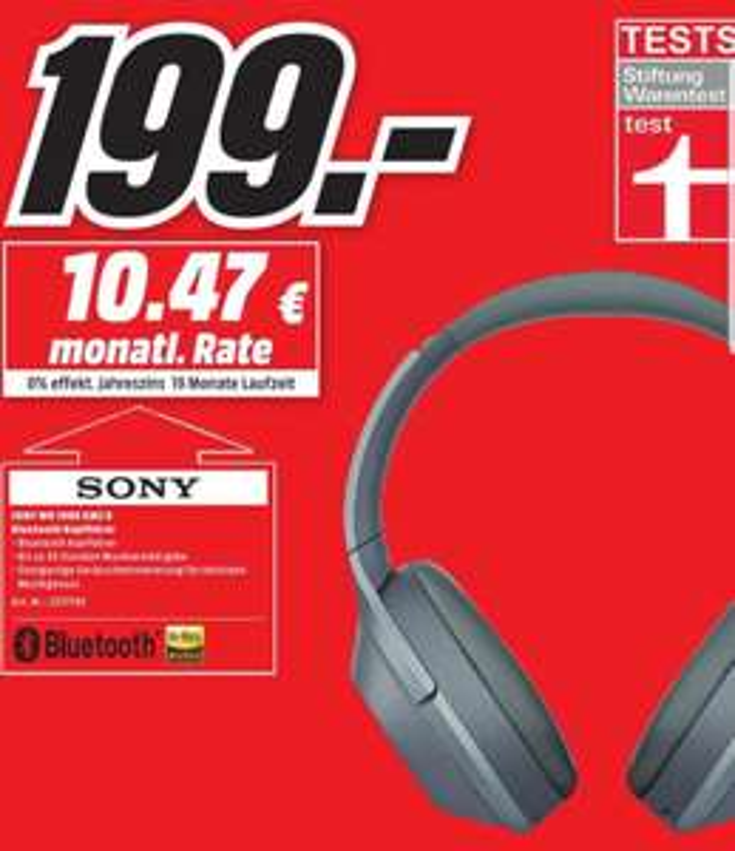 [Lokal Media Markt Bonn und Bornheim] Sony WH 1000 XM2 Bluetooth Kopfhörer