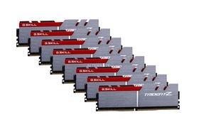 (Amazon - Vorbestellung) G.Skill Trident Z silber/rot DIMM Kit 128GB, DDR4-3200, CL15-15-15-35