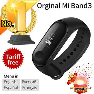 Xiaomi Mi band 3 Smart Wristband OLED Display 50M Waterproof  Bracelet - Black
