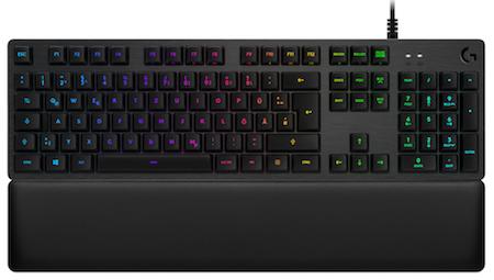 Logitech G513 mechanische Tastatur mit RGB-LED-Beleuchtung (taktile Omron Romer-G Schalter, Lightsync)