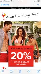 20% extra happy hour bei dress-4-less