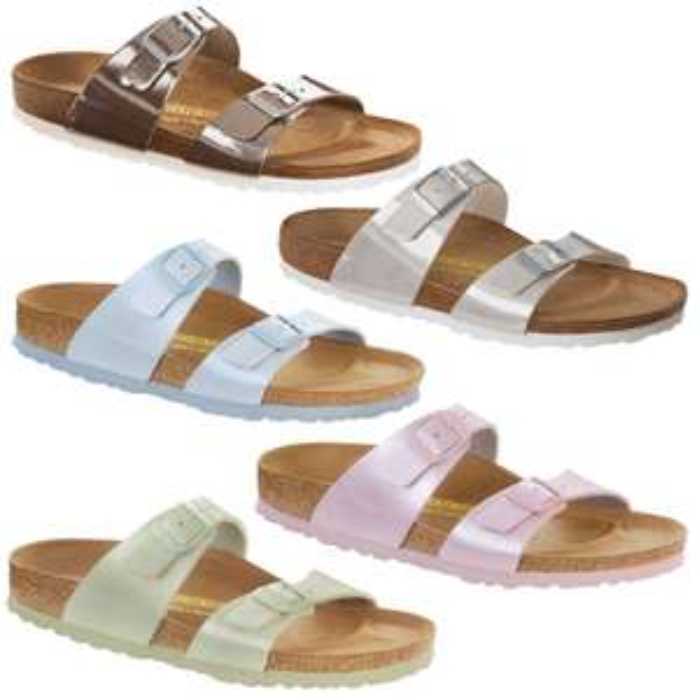 Birkenstock Sydney Damen Sandalen Pantoletten Verschiedene Farben Schmal Neu