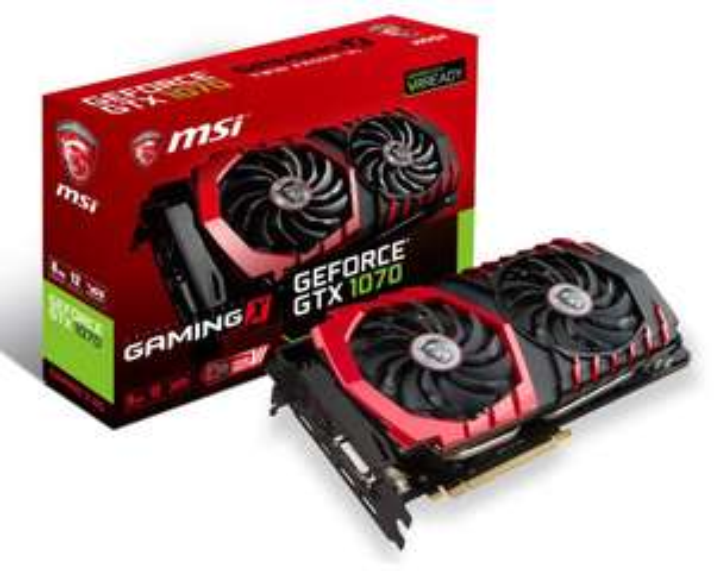 MSI GeForce GTX 1070 Gaming X 8G -13%