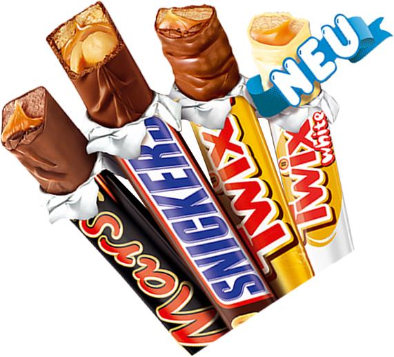Sticks (Twix, Snickers, Mars) Gratis Testen!