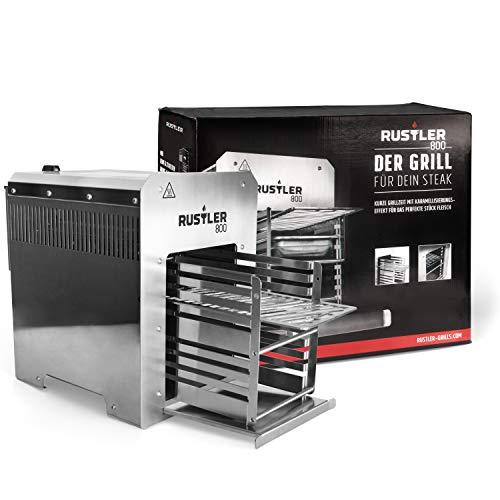 Rustler Hochtleistungs-Gasgrill / Oberhitzegrill mit 800°C / Grill für Steaks