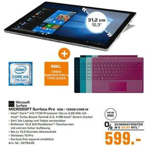 (LOKAL) Surface Pro Core M inkl. Type Cover (Saturn Berlin)