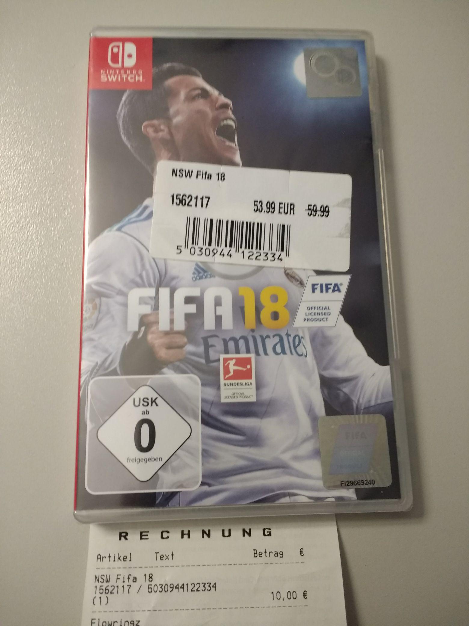 LOKAL Conrad Mannheim - FIFA 18 für Nintendo Switch, PS4, Xbox one