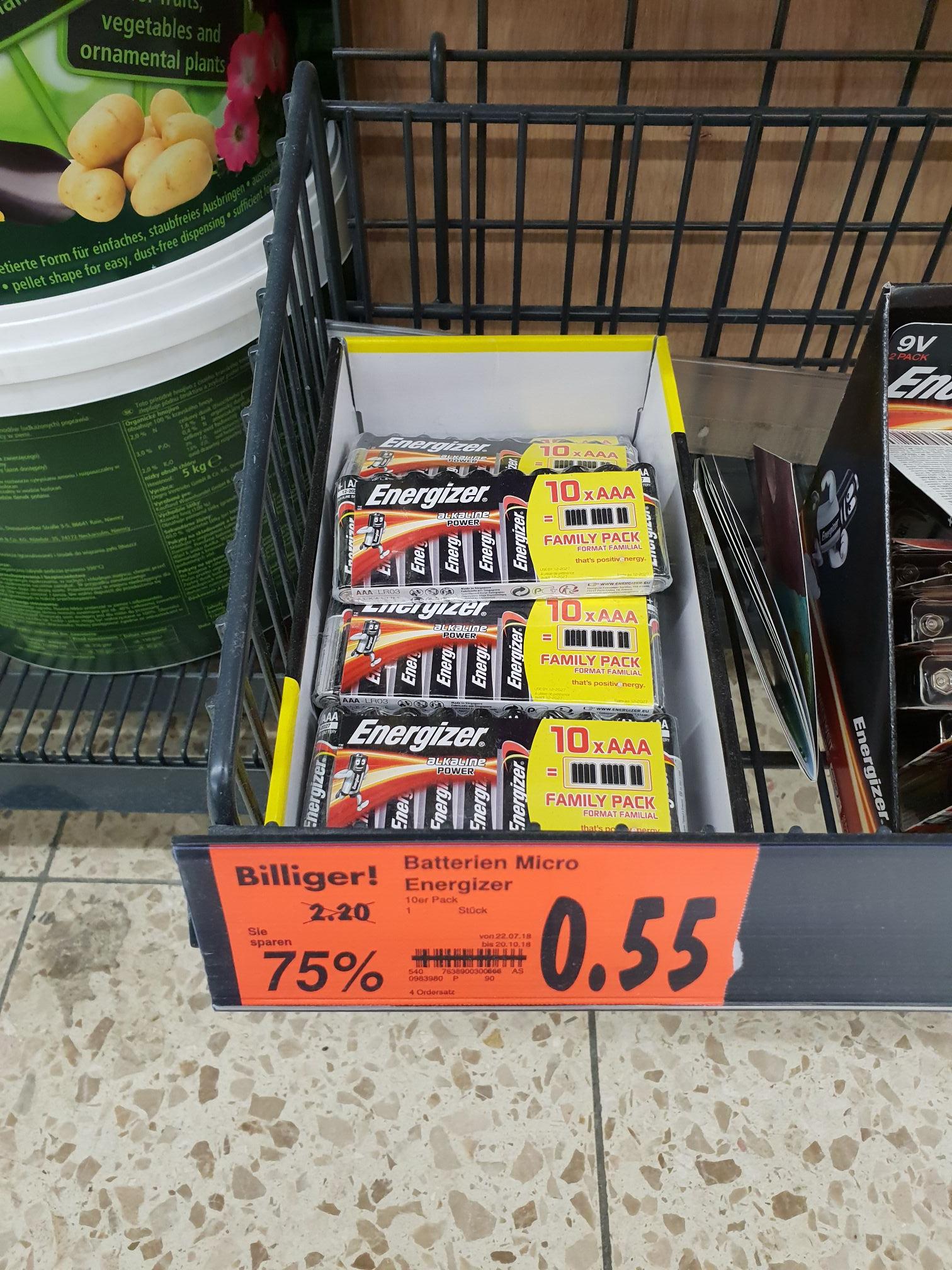 [KAUFLAND] Energizer 10er Micro Batterien   Lokal??