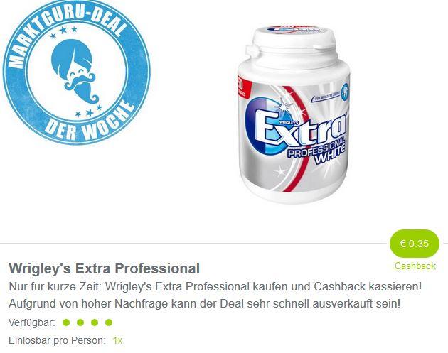 ( Marktguru ) 0,35 Euro auf Wrigley's Extra Professional