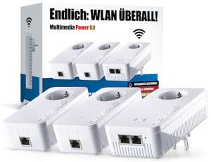 Devolo dLAN Multimedia Power Kit (1200 Mbit/s, 3x GBit-Lan, Powerline + WLAN ac)