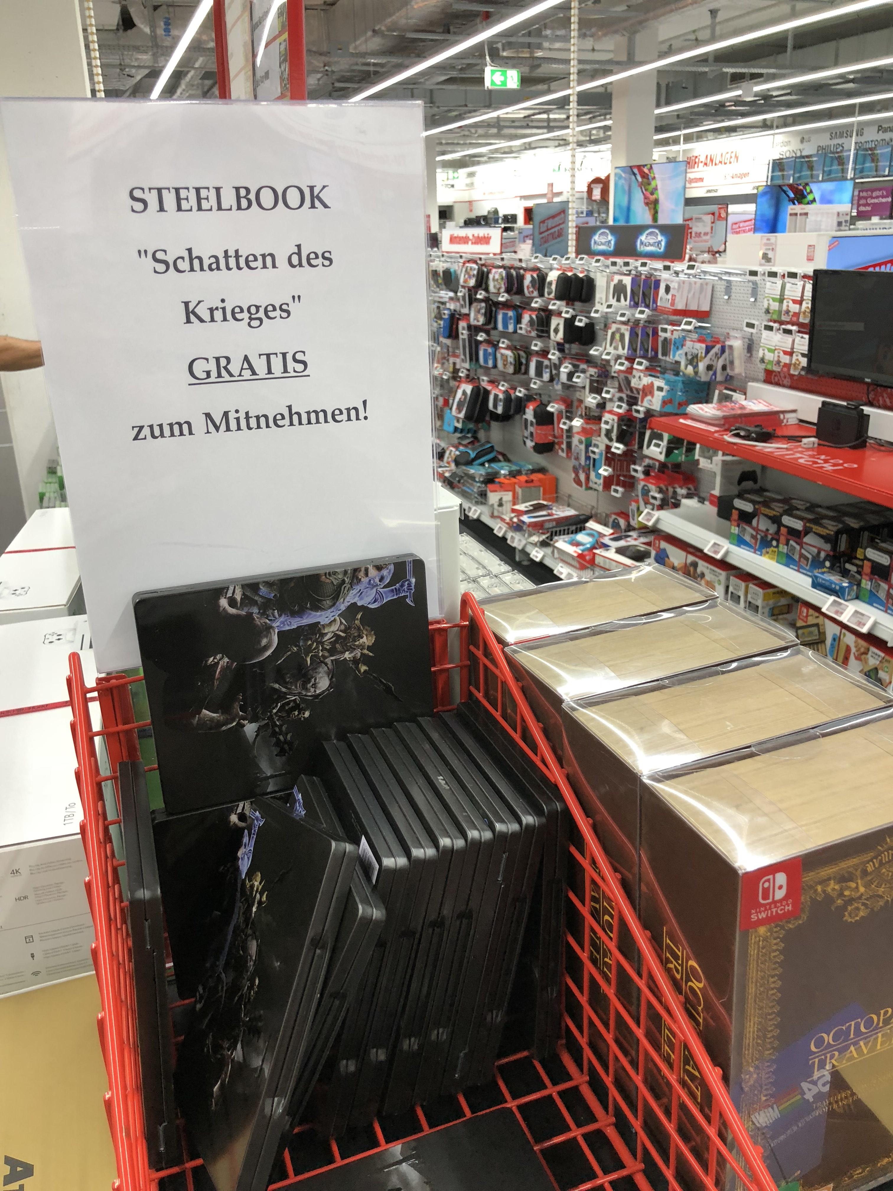 (Lokal - MM Neumünster) Mittelerde: Schatten des Kriegers Steelbook gratis zum Mitnehmen - PS4 / Xbox / PC