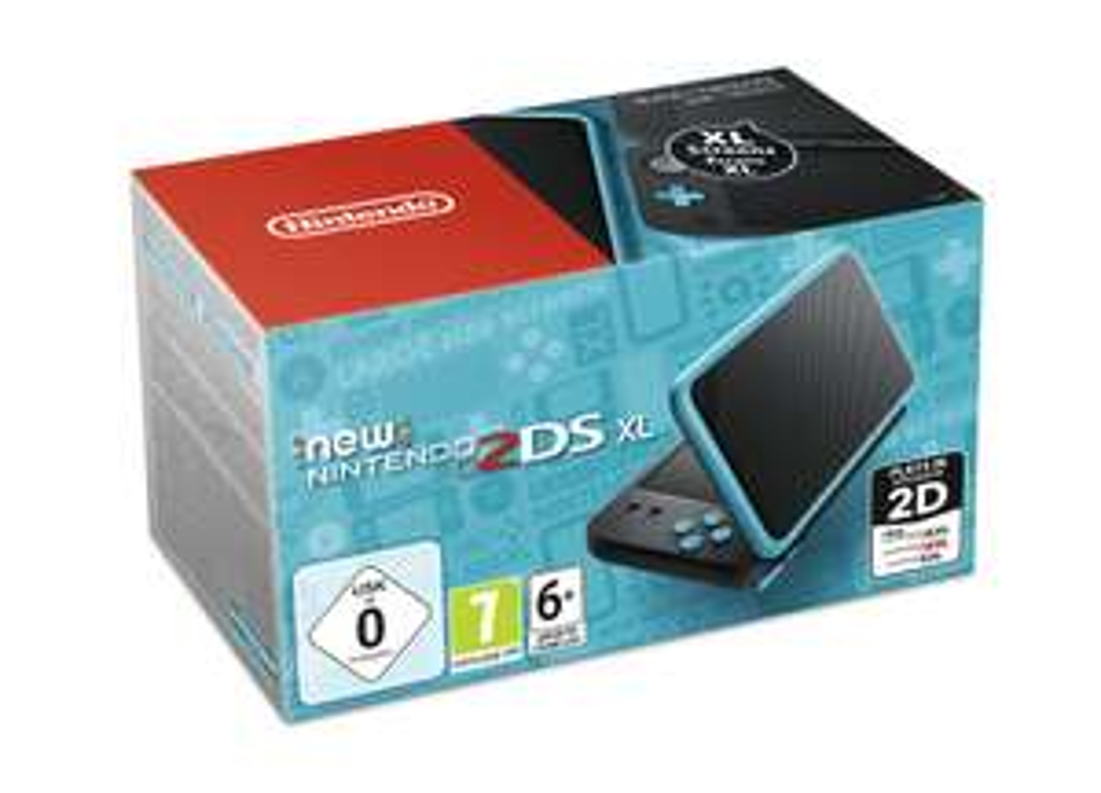 New Nintendo 2DS XL schwarz-türkis + Pokémon Ultrasonne
