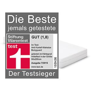 Bett 1 BODYGUARD Matratze 90x200 - Testsieger (H2/H3/H4) inkl. Versand [eBay Umzug]