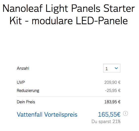 Nanoleaf Light Panels Starter Kit (Nur für Vattenfall Kunden!)