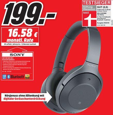 [Lokal Media Markt Düsseldorf, LA, MG] Sony WH 1000 XM2 Bluetooth Kopfhörer