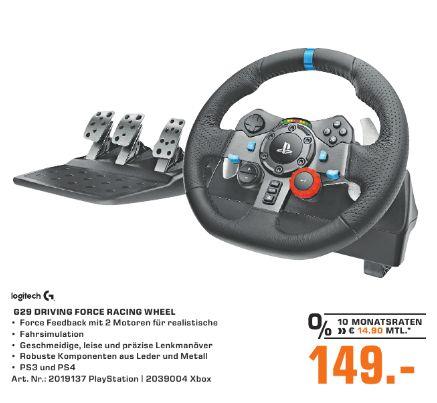 [Regional Saturn Neuss] Logitech G29 Driving Force Rennlenkrad für PC, PS3 & PS4 für 149,-€