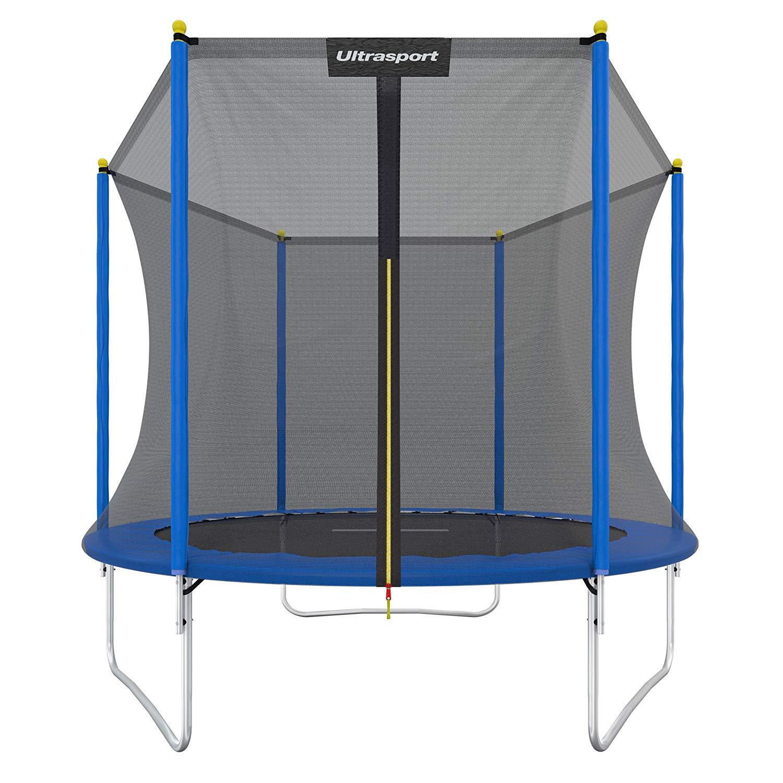 [sediva@eBay]  Ultrasport Uni Jump Trampolin inkl. Sicherheitsnetz (Durchmesser 244cm, max. 120kg, gepolsterte Randabdeckung)