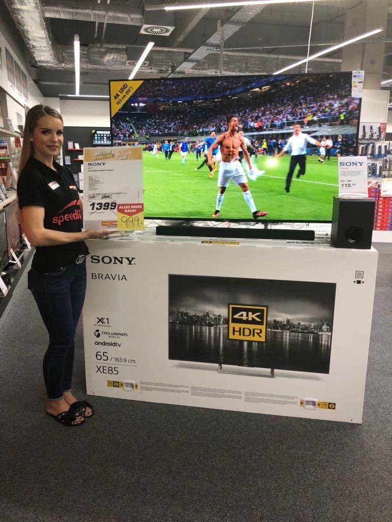 (lokal) Sony KD-65XE8505 für 999€ @MEDIMAX Oberhausen