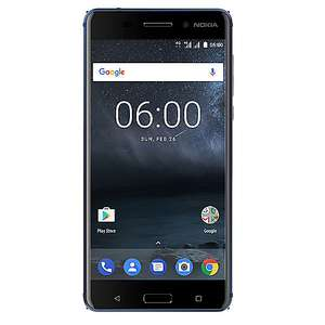 [Cyberport] Nokia 6 32GB tempered blue Dual-SIM Android Oreo Smartphone (2017 Version)