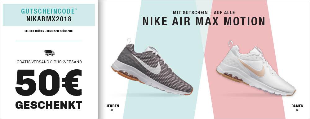 Nike Air Max Motion in vielen Farben und Größen