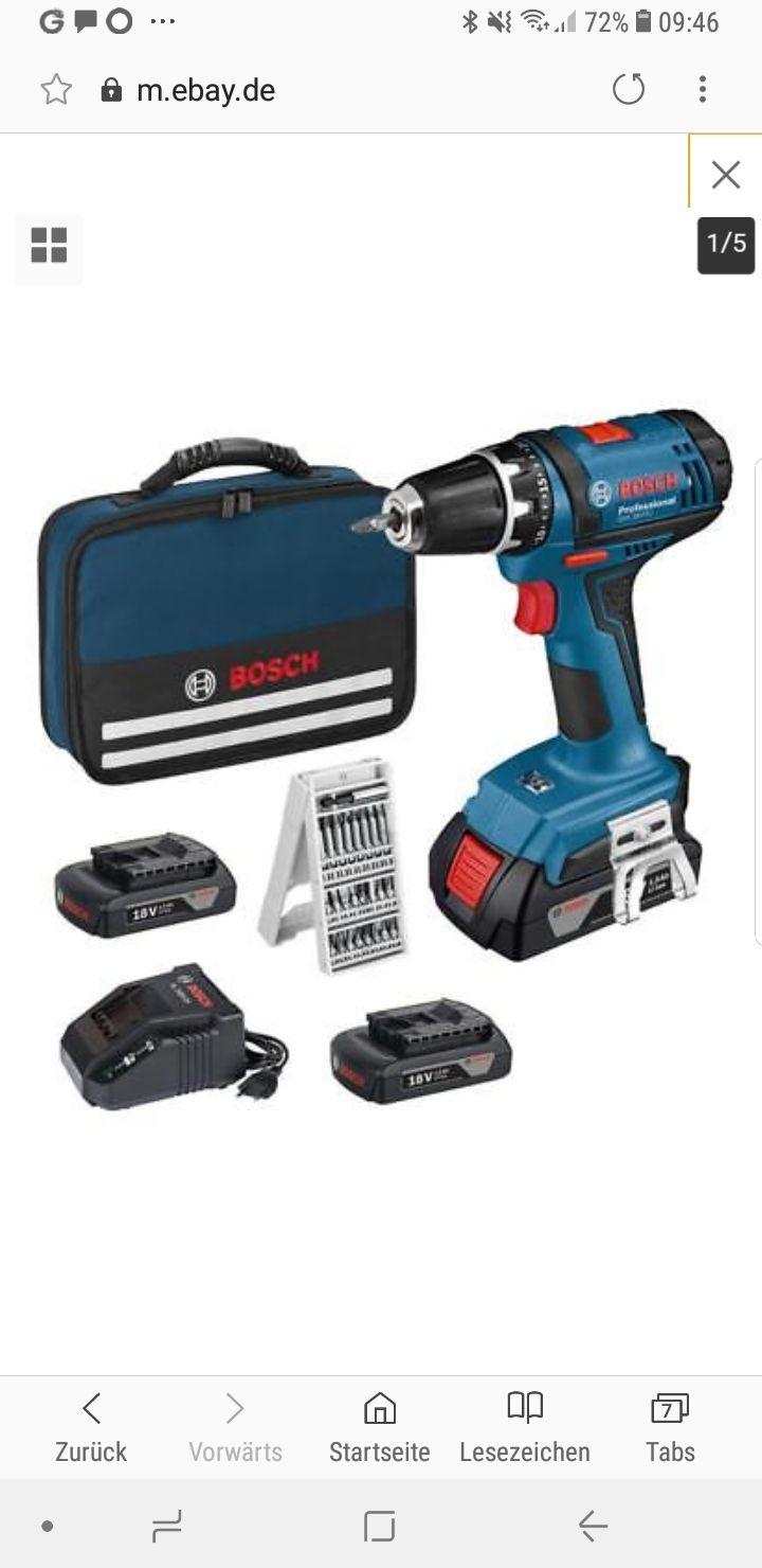 Bosch GSR 18-2-LI  Professional 3 x 1,5 Ah