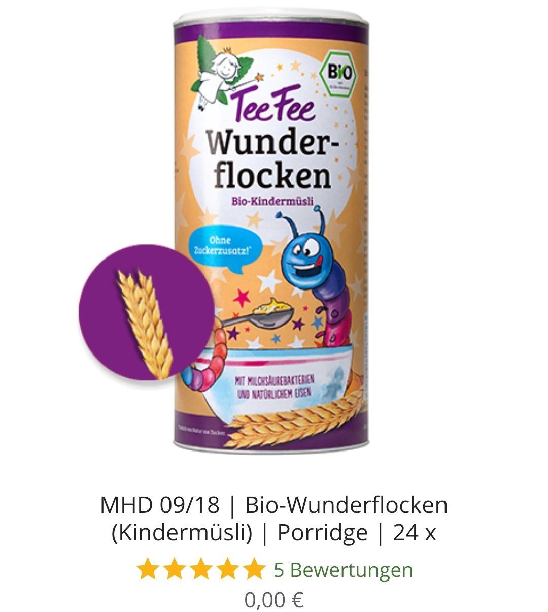 24 x 1,25 kg TeeFee Bio-Wunderflocken