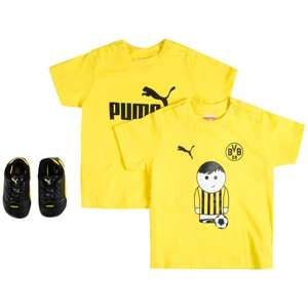 Für BVB Fans: 2 T-Shirts + Schuhe von Puma für Babys bei [SportSpar]