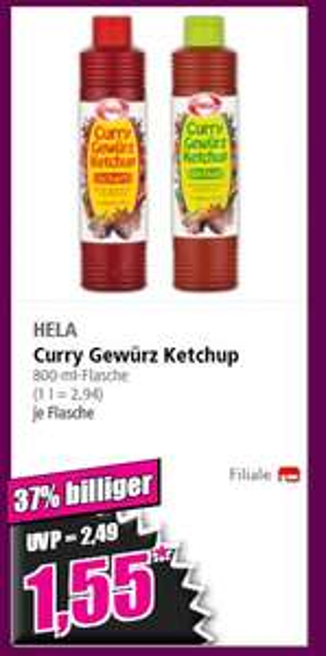 (Norma Offline) Hela Curry Gewürz Ketschup