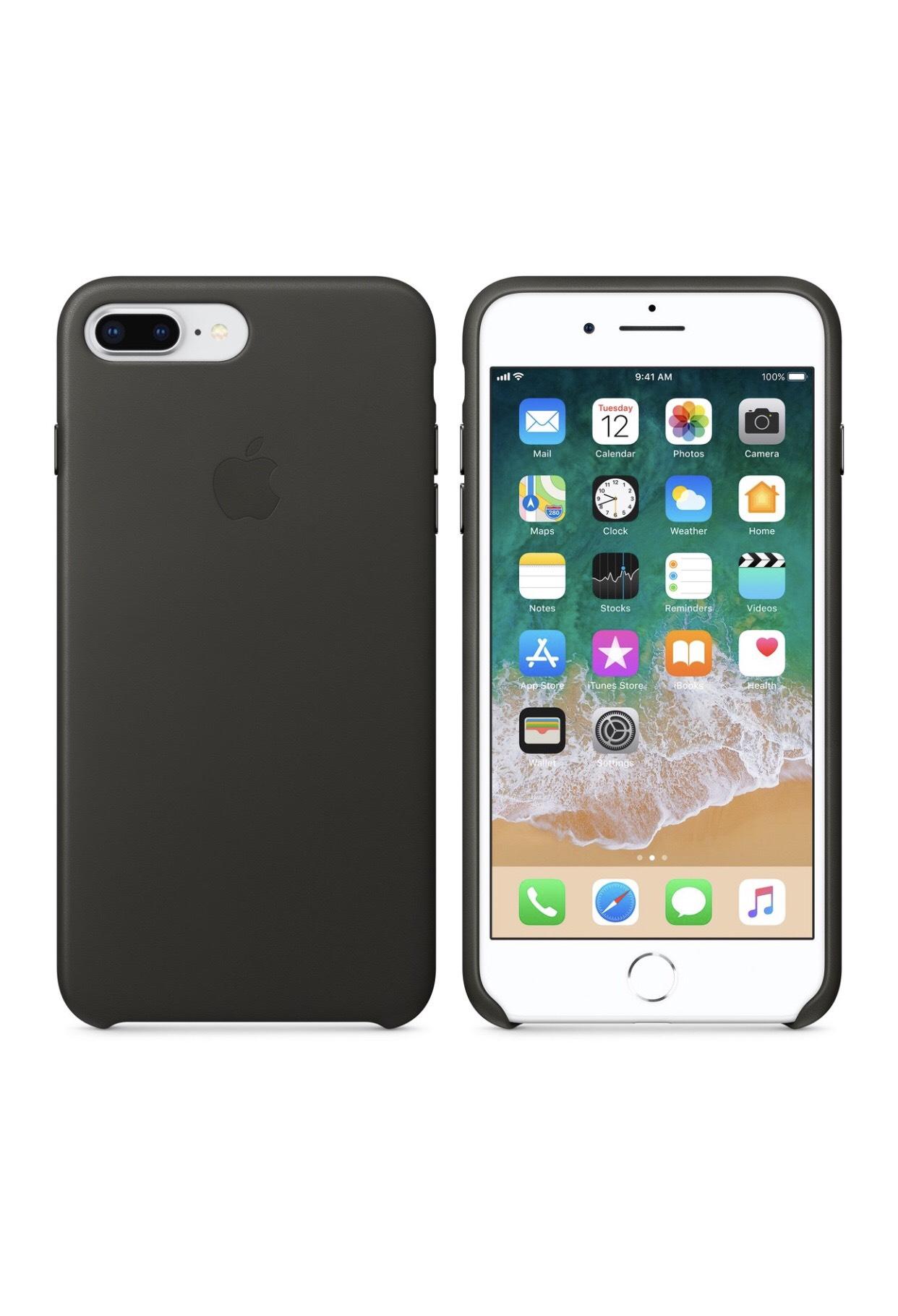 Apple IPhone 7 Plus / 8 Plus Leder Case Anthrazit