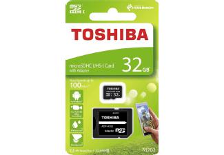 microSD-Karte Toshiba M203 32GB (Class 10, UHS-I, 100 MB/s Lesen)