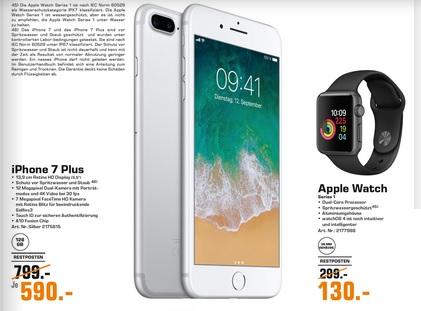 (Lokal) Apple Watch Series 1 für 130,00 € und iPhone 7 Plus 128GB für 590,00 € @ Saturn Braunschweig