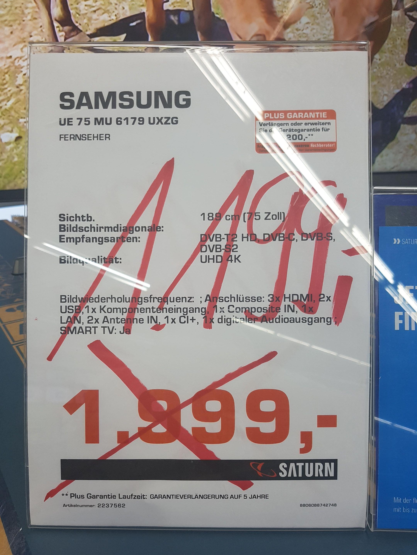 "[Lokal] Saturn Düsseldorf Sevens - Samsung UE 75MU6179 UXZG Fernseher 75"""