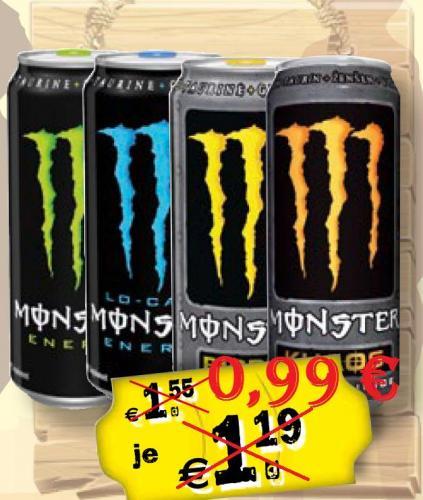 [Grenzgänger] Travel-Free-Shop bei Aš (CZ) - Selb (D), Monster Energy für 99 Cent Pfandfrei