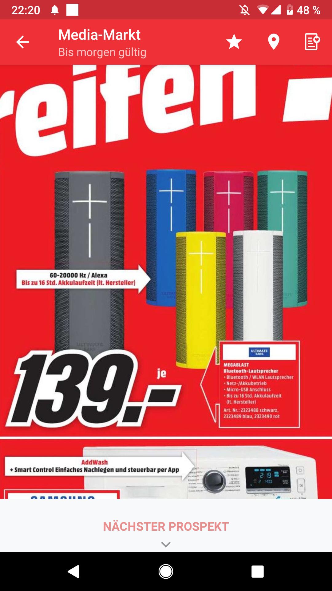 [Lokal] UE Megablast - verschiedene Farben